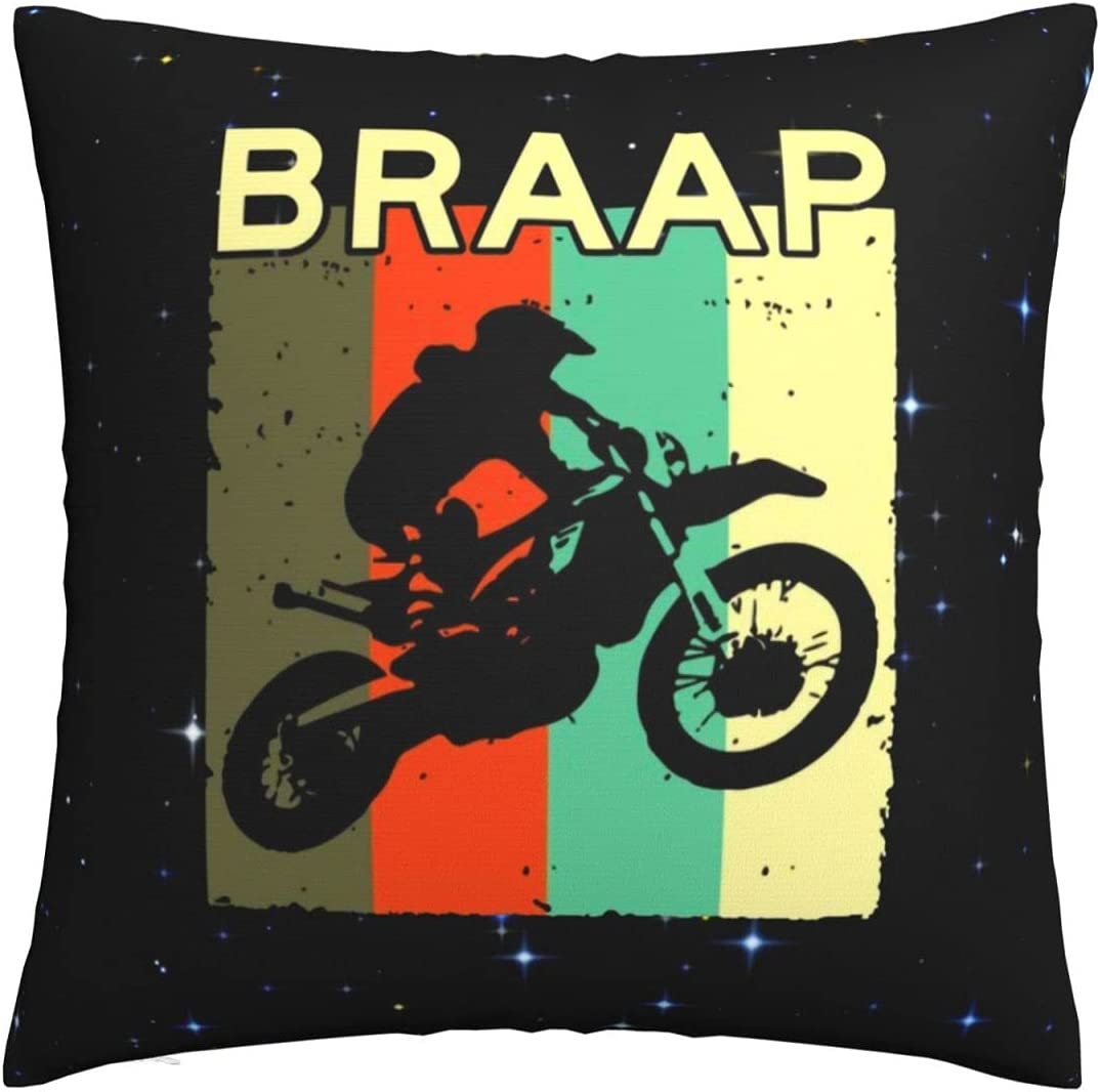 XIAFEIMANTIAN Dirt Bike 2021 model Animer and price revision - Motocross Cover Throw Pillow Decorativ