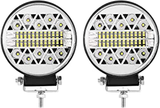 LightFox 4inch Cree LED Work Light Round Combo Driving Lamp Reverse Offroad 4WD 3 Years Warranty