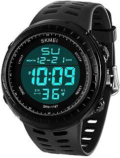 Reloj deportivo digital para hombre, pantalla LED, estilo militar, resistente al agua, luminoso, con cronómetro, alarma, reloj de ejército simple