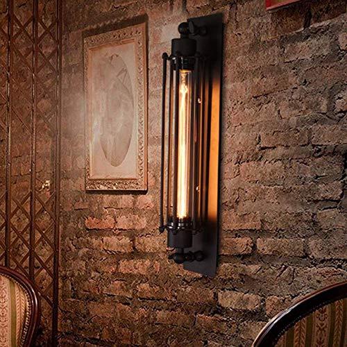 Boutique indoor lighting - Pared del pasillo de la lámpara E27 Retro Vintage Edison cubierta Industrial Light con tungsteno/Bombilla LED (Color : With Led Bulb)