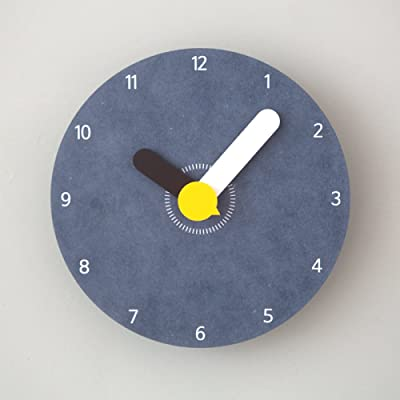 DZX Creative Childrens Room Decoration Color Cartoon Wall Clock Restaurant Living Room Mute and Tasteless,