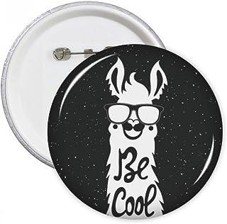 be Cool d'alpaga Noir Blanc Citation broches rondes badge Button Vêtements Décoration 5pcs Cadeau Medium multicolore