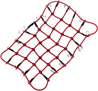 INJORA Elastic Luggage Net for 1:10 RC Rock Crawler Traxxas TRX-4 D90 AXIAL SCX10 RC Car Accessories,1PCS (Red)
