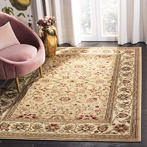 Safavieh Lyndhurst Collection LNH212D Traditional Oriental Non-Shedding Stain Resistant Living Room Bedroom Area Rug, 10' x 14', Beige / Ivory