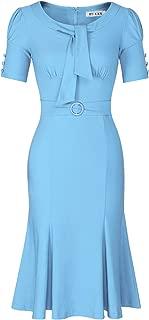 Women's Retro 1950s Style Short Sleeve Formal Mermaid Dress
