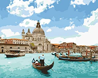 Anqwestan DIY Paint by Numbers for Adults and Kids 16x20Inch - Canvas Painting Kits with 3 Paintbrushes and Acrylic Pigmen...