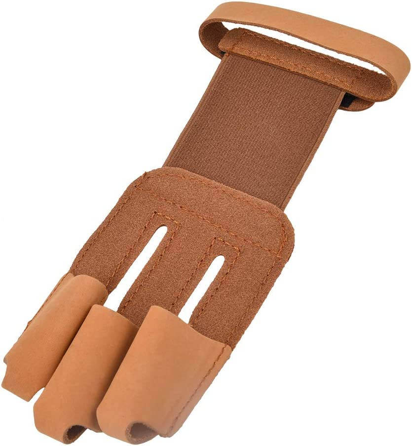 FAMKIT Milwaukee Mall Shooting Finger Guard Artificial Archery Fi Direct sale of manufacturer 3 Cow Leather