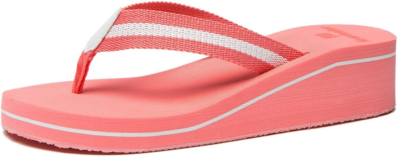 NewDenBer NDB Women's Comfortable Wedge Flip Flop