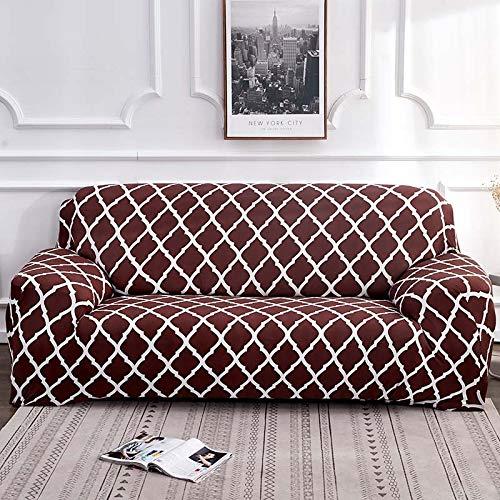 WXQY Estiramiento elástico de Funda de sofá geométrica para Silla Moderna Funda de sofá, Funda Protectora de Muebles de Sala A19 3 plazas