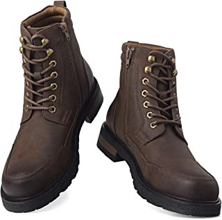 Men's Combat Boots Lace up Motorcycle Boots