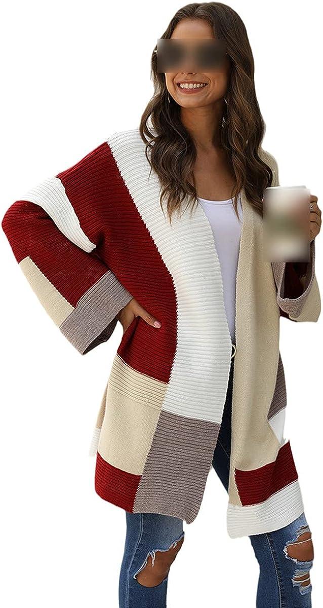 Bohemian Holiday Women's Cardigan Sweater Winter Jacket Patchwork Slim Long Cardigan