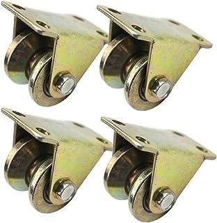 Meubelwielen Transportwielen V Type schuifpoortrol Stijve zwenkwiel voor poortframe, stalen schuifpoort Hardware voor poor...