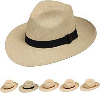 Fedora Packable Foldable Panama Straw Hat Classic 9fa883eb9af3