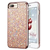 iPhone 7 Plus Glitter Case, iPhone 8 Plus Case, MIRACASE Glitter Bling Soft TPU Inner Shockproof Hard PC Cover Protective Case for Apple iPhone 8 Plus /7 Plus/ 6 Plus/6S Plus (5.5'), Rose Gold