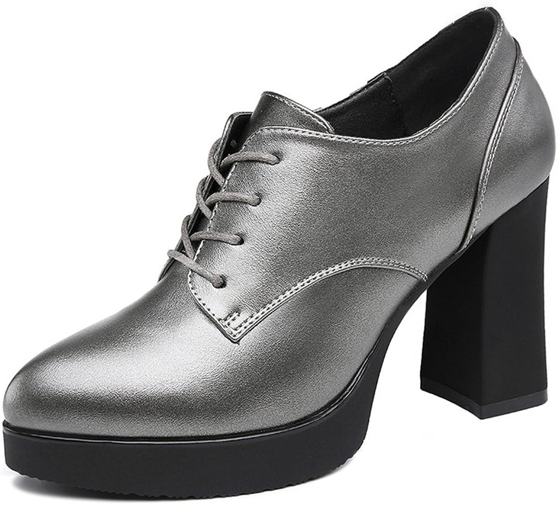 U MAC MAC MAC Kvinnor med höga klackar Pumpar med spetsig tå Lace upp Chunky Booslips Comfortable gående skor  billig grossist