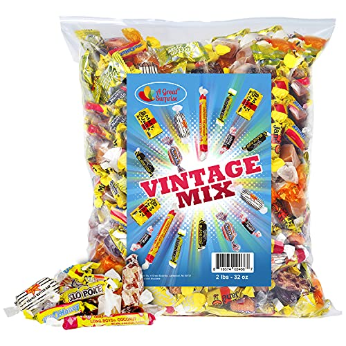 Old-Time Candy - Vintage - Nostalgic Candy Mix - Bulk Candy - Black Cow, Peanut Butter Bars, Slo Poke, Mary Jane, and more! (2 Pounds)