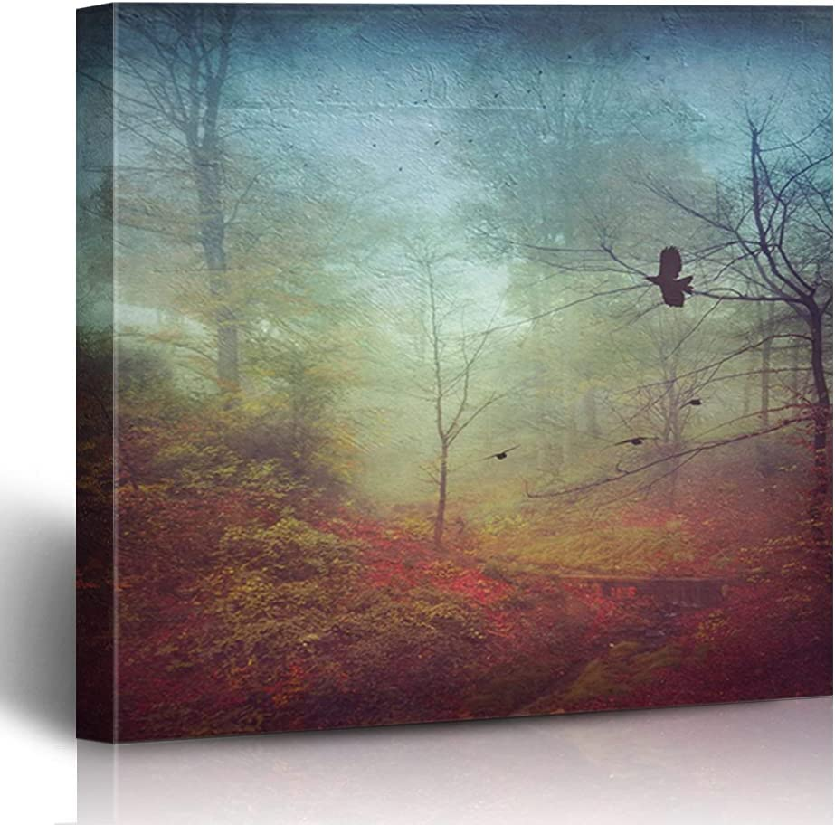 FAREYY Japan's largest assortment Canvas Prints Landscapes Misty My November Morning Forest Ranking TOP20