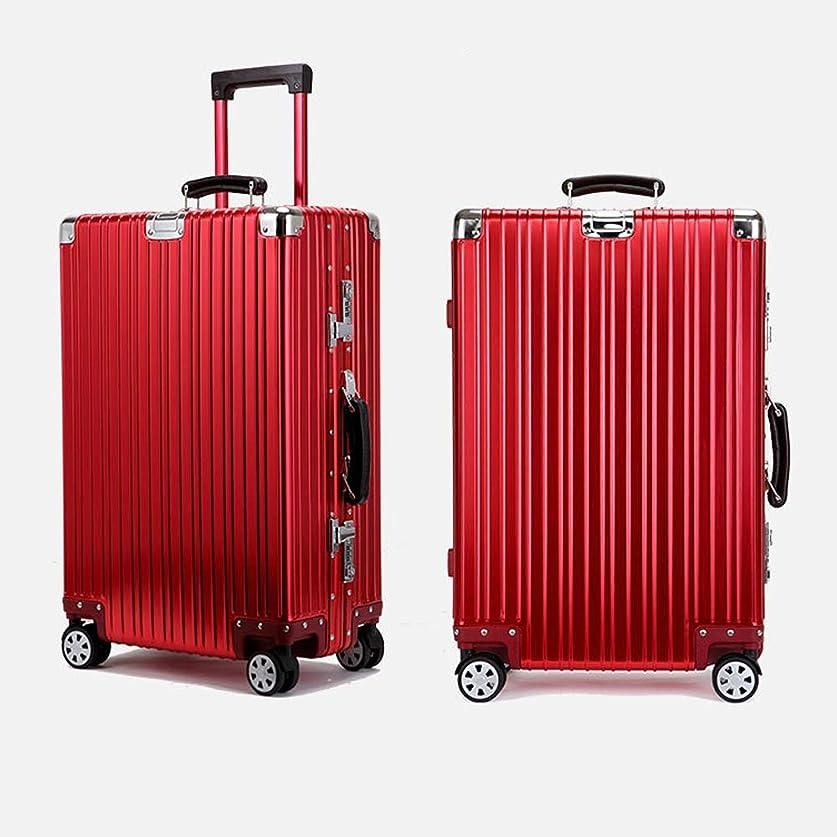 灰発症トマトアルミ スーツケース ダブルキャスター?静音 キャリーケース TSAロック搭載 軽量 無段階調節 キャリーケース 出張 旅行 機内持ち込み可 大容量 静音8輪