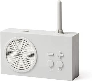 Lexon Tykho 3 FM Radio, Bluetooth Speaker, 5W, Splash Proof IPX4, Autonomy 20 Hours, Silicone Rubber Case - Mastic