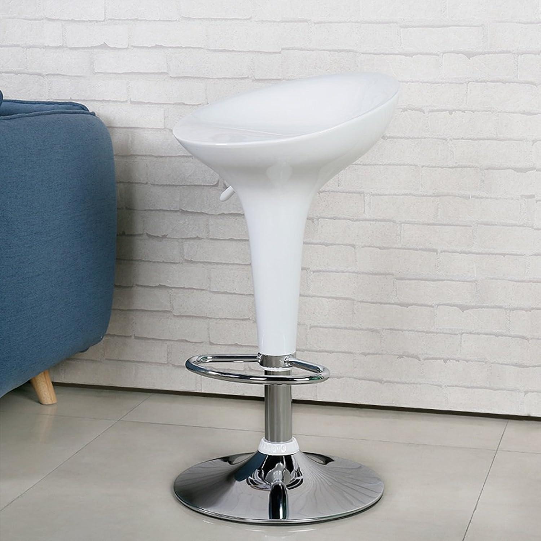 QARYYQ Fashion Bar Chair Home Modern Minimalist Bar Stool Bar Chair Lift redating Front Desk Chair 46x40x60cm Bar Stool (color   White)