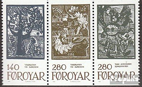 Prophila Collection Dänemark - Färöer W6 (kompl.Ausg.) 1984 Märchenillustrationen (Briefmarken für Sammler) Kultur