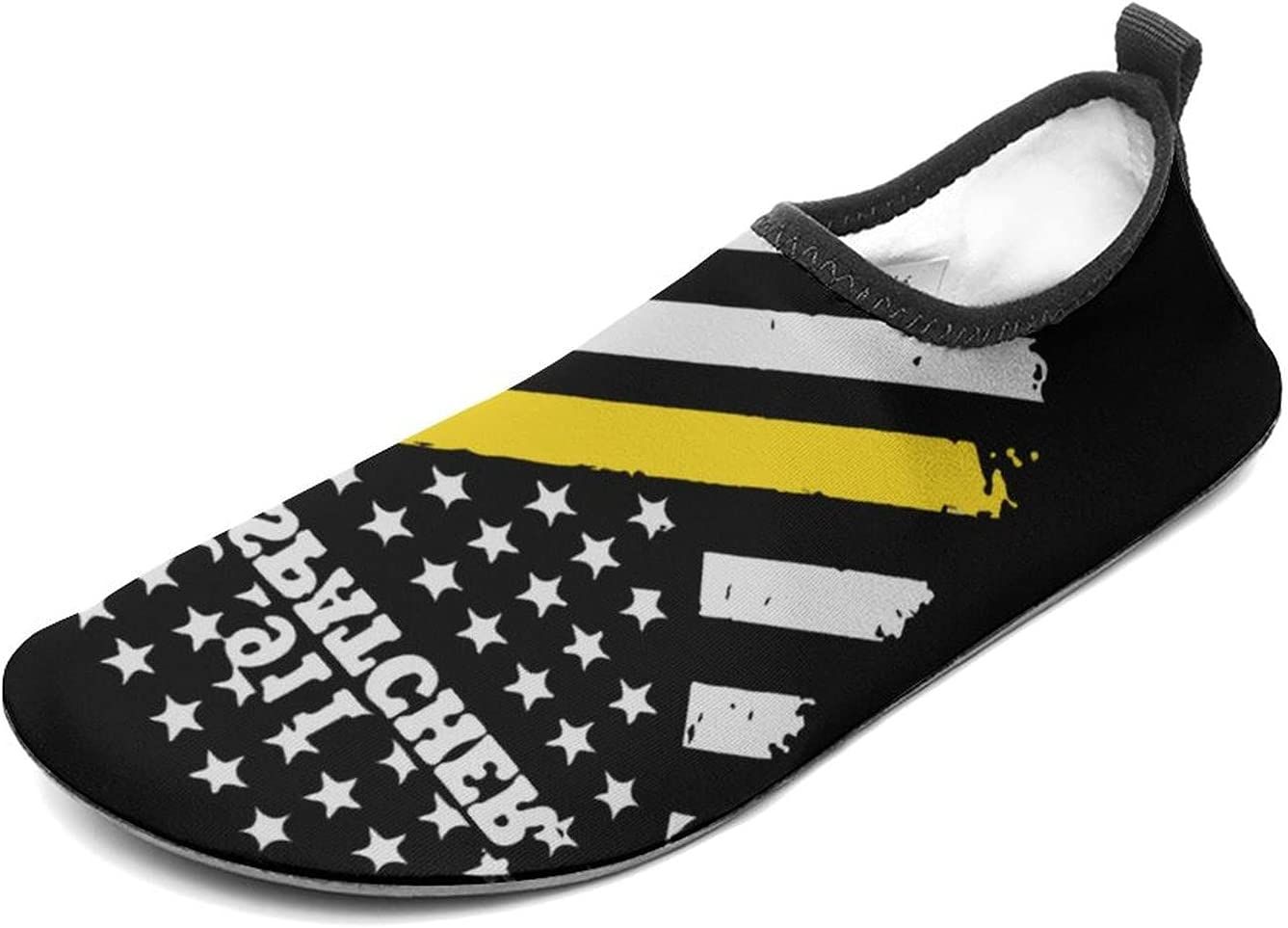 Inventory cleanup selling sale WEEDKEYCAT Limited price sale 911 Dispatcher Thin Gold Line Fun Water fo Flag Shoes