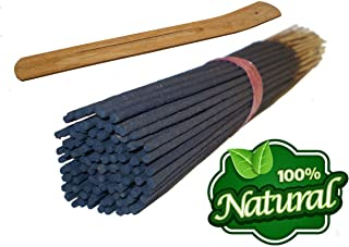 Bless-Frankincense-and-Myrrh 100%-Natural-Incense-Sticks Handmade-Hand-Dipped The-best-woods-scent-100-sticks-pack (with Incense Holder)