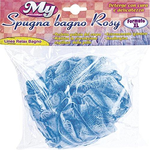 Briancasa Éponge de Bain nettoyant Rosy Format XL, hypoallergénique, Bleu Ciel