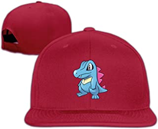 Pokemon Go Games Totodile Cartoon Baseball Snapback Caps