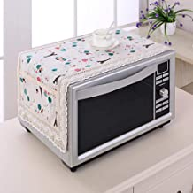 Gouen Colorido de algodón y Lino Cubierta de Polvo de microondas Doble Bolsillo Cubierta de Horno de microondas Toalla Easy Clean, AD, 100x35cm