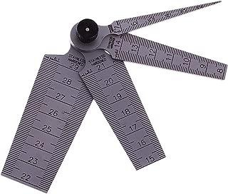 ZXHAO 1mm to 29 mm Test Ulnar Inch&Metric Measuring Metric Stainless Steel Taper Gauge Feeler Gap Hole