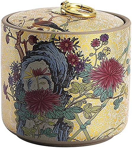 WHXL Lattine di tè sigillati per tè Allentati, Decorazioni Portatili del Serbatoio di stoccaggio, lattine di tè in Ceramica.