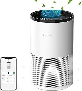proscenic A8 Purificador de aire Compatible con App y Alexa,4 Etapas de Filtración,HEPA H13 y Carbón Activo,Sirve para Olo...