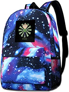 Galaxy Printed Shoulders Bag Mr Mackey Retro Japanese South Park Fashion Casual Star Sky Backpack For Boys&girls