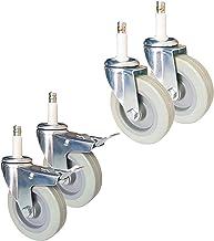 4 stks Meubelwielen Cars Caster, Swivel Stem Meubilair Caster, 360 graden Roterende zwenkwielen, met rubberen mouw, voor k...