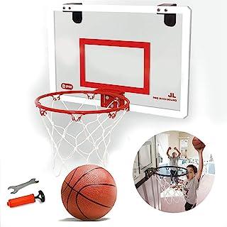 MOGOI Indoor Mini Basketball Hoop and Balls, Wall Mounted Basketball Hoop for Door Set Bedroom Office Mini Basketball Game...