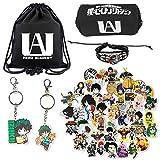 Lanrena 55Pcs Boku No Hero Academia Bag Teens Gift Anime Accessories Set