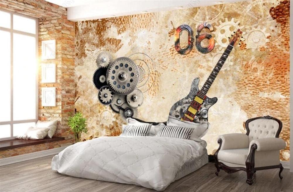 LZQMO Wallpaper Wall Music Bar online shop Guitar Wallpa Max 74% OFF Retro Musical Mural