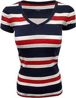 Women's Wide Stripes Logo V-Neck T-Shirt