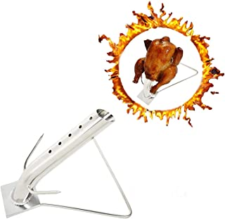 Skyflame Stainless Steel Turkey Infusion Roaster Stand for Roasting and Grilling Poultry -...