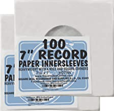 (200) Archival Quality Acid-Free Heavyweight Paper Inner Sleeves for 7