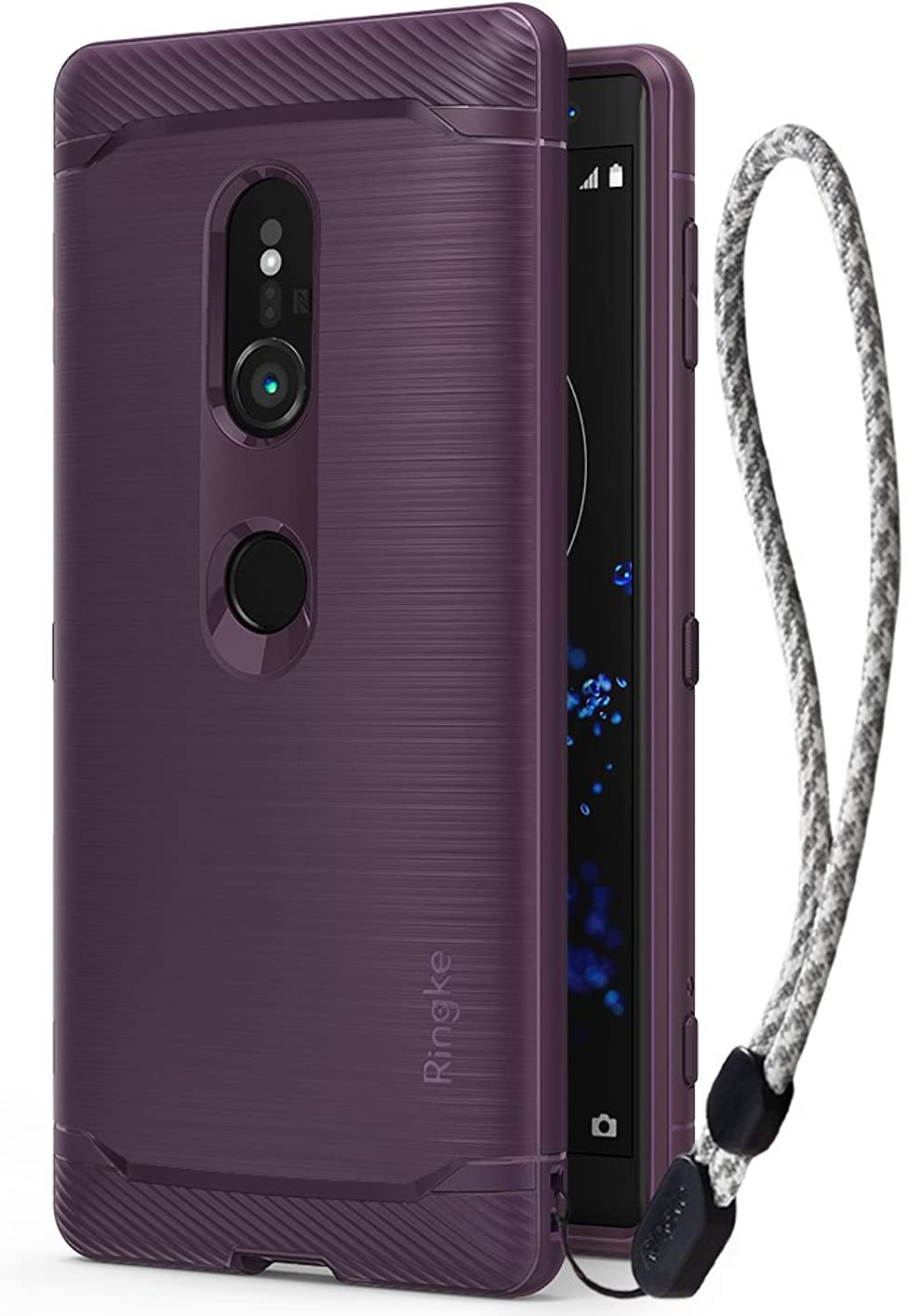 透けて見える余裕があるソーシャル【Ringke】Sony Xperia XZ2 ケース 対応 コスパ最高 落下防止 ストラップホール スマホケース【軍用規格落下試験済み】吸収耐衝撃カバー Qi ワイヤレス充電対応 Onyx (Lilac Purple/ライラックパープル) XperiaXZ2 ケース