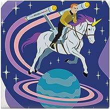 CafePress - Star Trek Unicorn Enterprise - Tile Coaster, Drink Coaster, Small Trivet