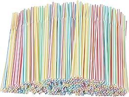 100 stuks bubble thee bekers stro dikke kinderen rietjes kleurrijke drinkrietjes,bonte herbruikbare rietjes, 、