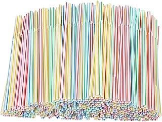 100 stks Rietjes, bonte herbruikbare rietjes, BPA-vrij, Kleurrijke Rietjes Flexibele Rietjes Buigbare Drinkrietjes voor Fe...