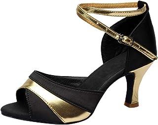 comprar comparacion Luckycat Zapatos de tacón Alto de Baile de Salsa Latina para Mujer Rumba Zapatos de Baile de salón de Baile de vals de Ves...