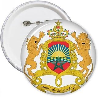 Maroc Afrique de l'emblème broches rondes badge Button Vêtements Décoration Cadeau 5pcs L