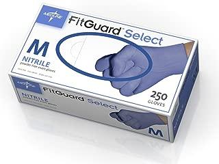 Medline FG2600H FitGuard Select Nitrile Exam Gloves, X-Small, Violet (Box of 250)