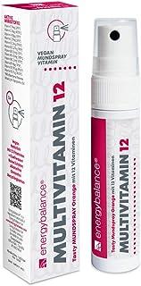 Multivitaminas 12 - Végétale - Spray bucal - 12 vitaminas esenciales - Multivitaminas niños y adultos - absorción rápida - sabor naranja - sin alcohol - 25 ml