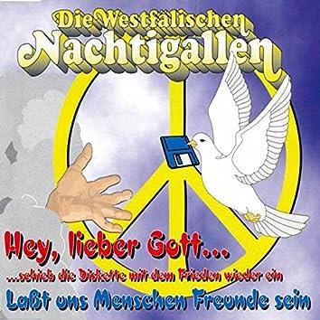 Hey, lieber Gott... Schieb die Diskette mit dem Frieden wieder ein (Lasst uns Menschen Freunde sein)